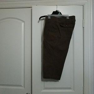 Brown crop pants